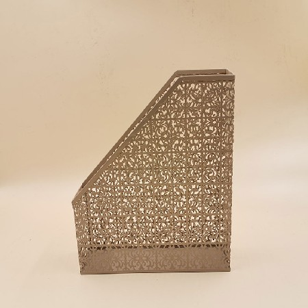 Brown hollow stainless steel folder